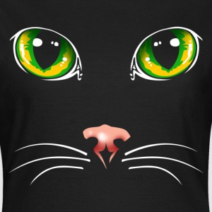 Black cat eyes - Vrouwen T-shirt