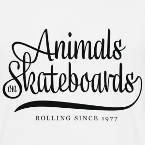 Animals on Skateboards T-Shirts - Männer T-Shirt