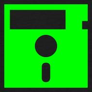 Design ~ Floppy Disk Monster Green (8-bit Guerrilla)