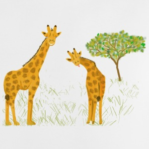 Giraffen in der Savanne - Baby T-Shirt