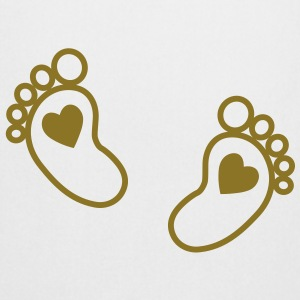 baby - feet - heart  Aprons - Cooking Apron