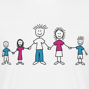 doodle_family_3c T-shirts - Herre-T-shirt