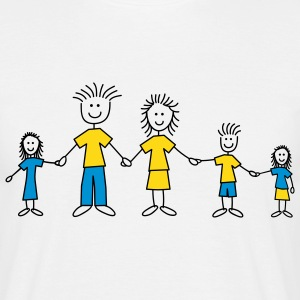 5member_doodle_family_3c T-shirts - Herre-T-shirt