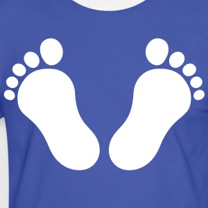 footprints_1c T-shirts - Herre kontrast-T-shirt