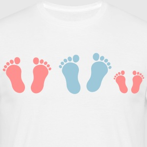 footprint_family_with_girl_2c Camisetas - Camiseta hombre