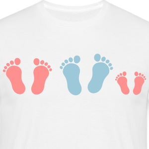 footprint_family_with_girl_2c T-shirts - T-shirt herr