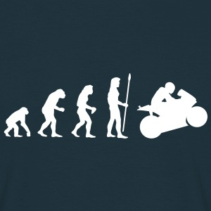 evolution_motorbike1 T-shirts - Mannen T-shirt