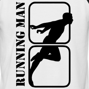 Running Man jogging sports motiv T-skjorter - Kortermet baseball skjorte for menn