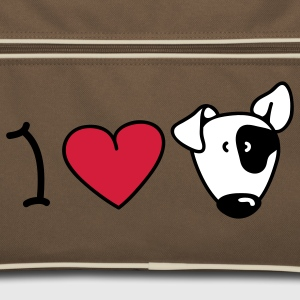 I love dogs Borse - Borsa retrò