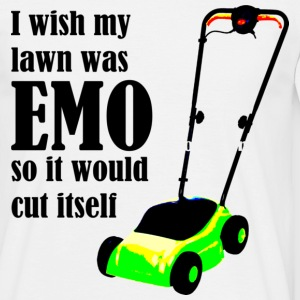 I wish my lawn was EMO so it would cut itself T-shirts - Mannen T-shirt