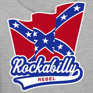 Rockabilly Rebel Flag, Sweatshirt à capuche Homme - Sweat-shirt à capuche Premium pour hommes