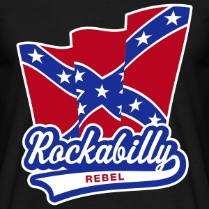 Rockabilly Rebel Flag, T-Shirt - T-shirt Homme
