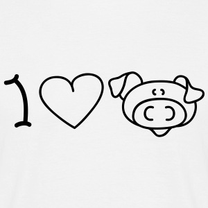 I love pigs T-Shirts - Men's T-Shirt
