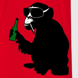monkey with beer bottle  - Männer T-Shirt