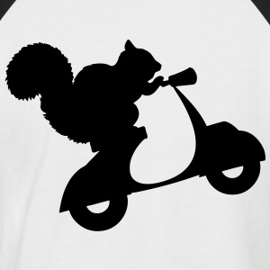 Squirrel on Scooter T-Shirts - Men's Baseball T-Shirt