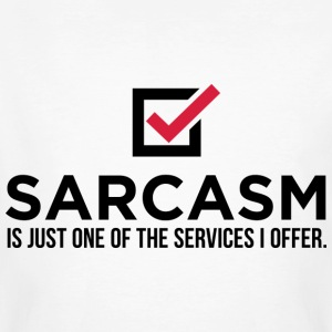 Sarcasm Is Just One 1 (dd)++ T-shirts - Ekologisk T-shirt herr