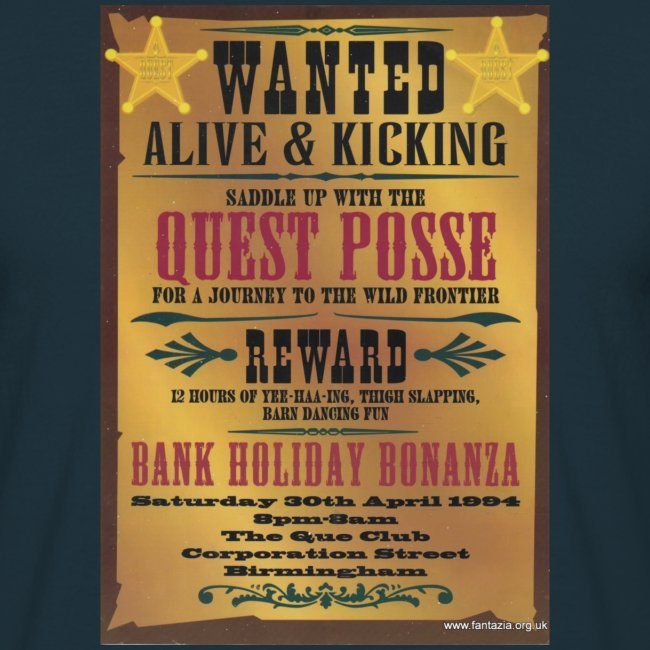 Quest Wanted Alive & Kickin 30/04/94 flyer