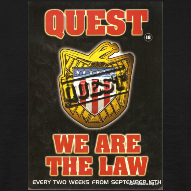 Quest We are the Law 26/08/95 flyer