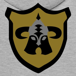 Heather grey Viking fantasy shield Hoodies & Sweatshirts - Men's Premium Hoodie