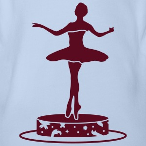 Music box with ballerina figure Baby Bodysuits - Organic Short-sleeved Baby Bodysuit