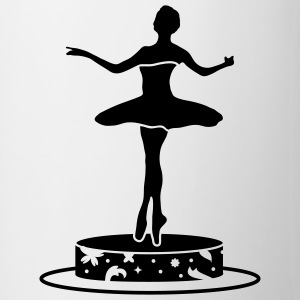 Music box with ballerina figure Mugs  - Mug
