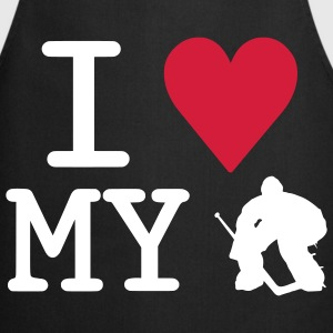 'I Love My Goalie' Tablier de cuisine - Tablier de cuisine