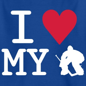 'I Love My Goalie' Tee Shirt Enfant - T-shirt Ado