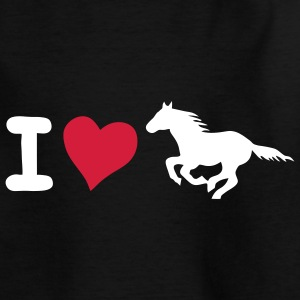 i love ros paard paardje pony hit hart Kinder shirts - Teenager T-shirt
