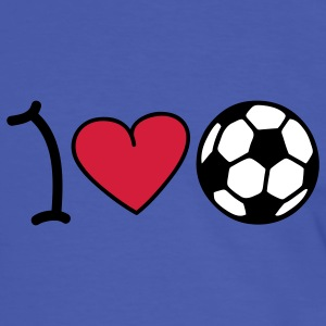 I love football T-shirts - Mannen contrastshirt