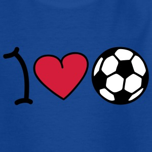 I love football Kids' Shirts - Teenage T-shirt