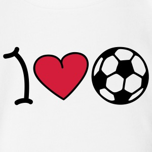 I love football Babybody - Ekologisk kortärmad babybody