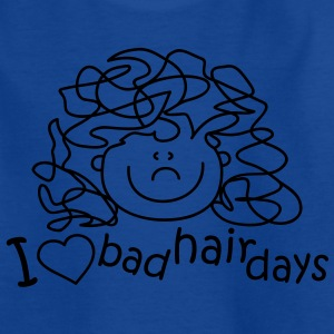 I love bad hair days Kids' Shirts - Teenage T-shirt