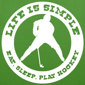 Life is Simple. Eat, Sleep, Play Hockey Bags  - EarthPositive Tote Bag
