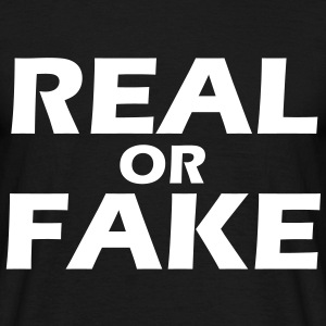 Real or Fake T-Shirt black, Motiv weiß - Männer T-Shirt