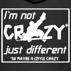I'm Not Crazy Just Different Kids' Tops - Kids' Premium Zip Hoodie