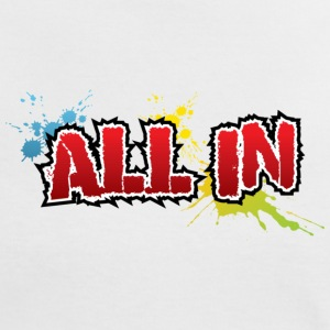 All in Graffiti T-Shirt - Frauen Kontrast-T-Shirt
