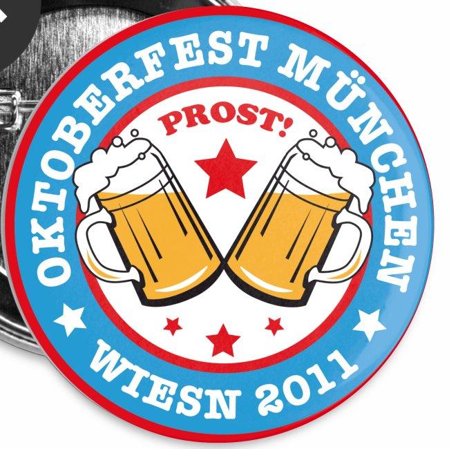 Prost! Witziger Anstecker Bier OKTOBERFEST MÜNCHEN  WIESN 2011