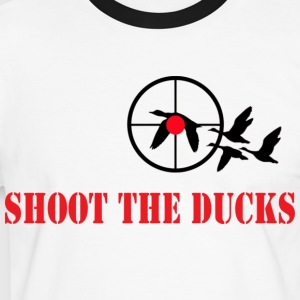 shoot the ducks T-Shirts - Männer Kontrast-T-Shirt