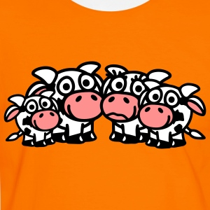 cow_family_with_two_boys_3c T-shirts - Herre kontrast-T-shirt