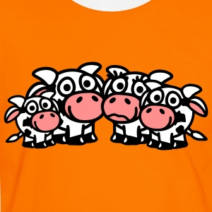 cow_family_with_two_boys_3c T-shirts - Mannen contrastshirt