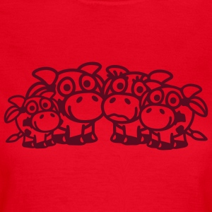 cow_family_with_two_boys_1c T-shirts - Dame-T-shirt