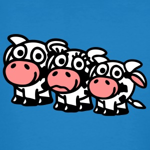 cow_family_with_boy_3c T-Shirts - Männer Bio-T-Shirt