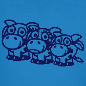 cow_family_with_boy_1c T-Shirts - Männer Bio-T-Shirt
