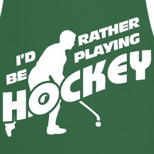 I'd Rather be Playing Hockey  Aprons - Cooking Apron
