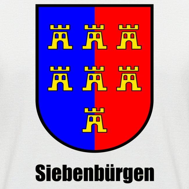 "Baseball-T-Shirt ""Siebenbürger Sachsen"" mit farbigem Sachsenwappen"