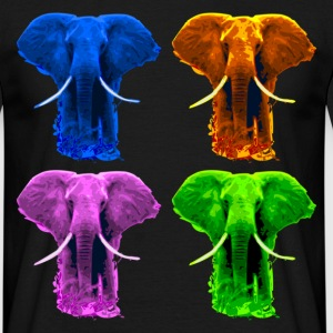 4 coloured Elefants T-Shirts - Men's T-Shirt