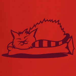 A cat sleeps on a pillow  Aprons - Cooking Apron