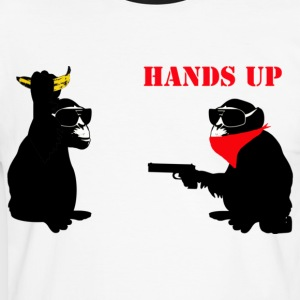 hands up T-Shirts - Männer Kontrast-T-Shirt
