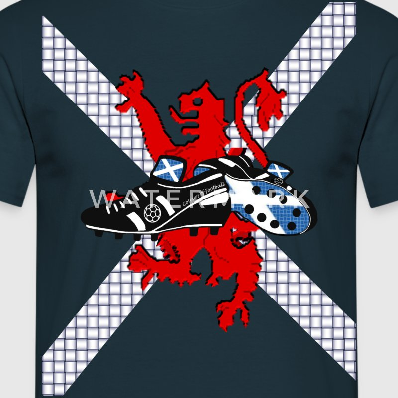 Saltire & Lion Rampant Football Boot Design - Men's T-Shirt