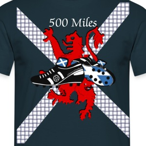 Scotland 500 miles Style football t-shirt - Men's T-Shirt
